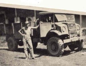 Chevrolet C60L with uncle Dirk East Indie 1948